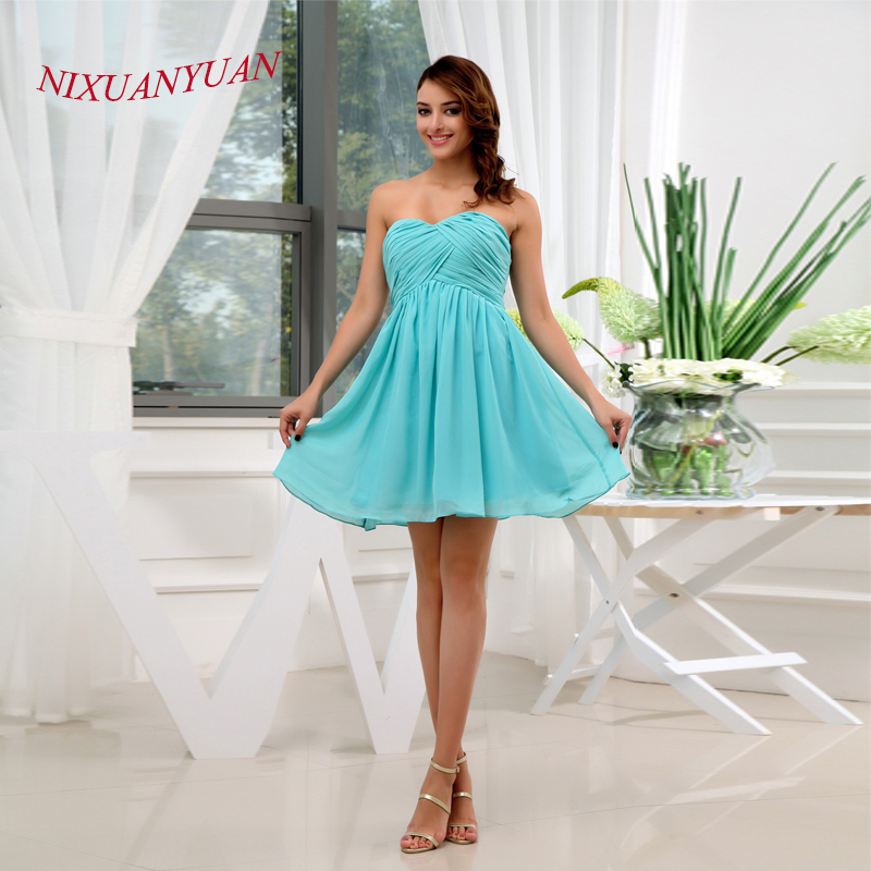 NIXUANYUAN 2017 Simple Pleat Party   Dress   Sweetheart Cheap   Cocktail     Dresses   2017 Short vestidos de   cocktail   Real Photos