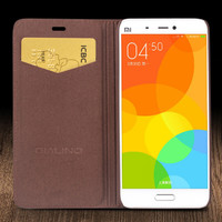Original QIALINO Top Quality Natural Calf Skin Genuine Leather Case Cover For Xiaomi 5 Bag Case