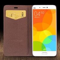 Original QIALINO Top Quality Natural Calf Skin Genuine Leather Case Cover For Xiaomi 5 Bag Case