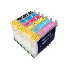 T0481-T0486 Refillable ink cartridges for Epson Stylus Photo R200/R220/R300/R300M/R320/R340/RX500/RX600/RX620 With ARC chips цена в Москве и Питере