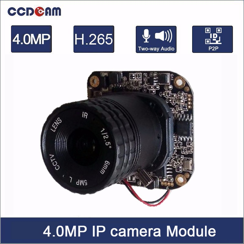 CCDCAM H.265 4MP 1/3 OV4689 CMOS Sensor Hisilicon 3516D Processor IP Camera Module Board CCTV Camera System free shipping women casual flat shoes fashion slip on round toe loafers lace fashion wedge flats hollow out white canvas shoes