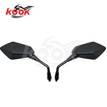 1 pair Universal 8mm 10mm motorcycle backup mirror motorbike rearview mirro for  Yamaha honda suzuki kawasaki free shipping