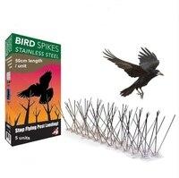 Batawa ÇELIK KUŞ SIVRI Dayanıklı Güvercin Kovucu-Büyük Caydırıcı Kuşlar  Kargalar Ve Woodpeckers  5 Set (5*50 cm)