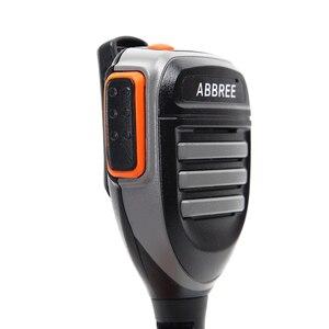 Image 3 - Walkie talkie abbree AR 780 à prova d água, 2 peças, microfone com 2 pinos ptt, rádio kenwood, tyt baofeng, 2 peças rádio