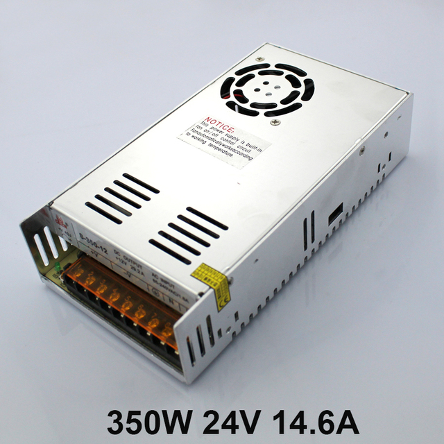 S-350-24V Factory Direct LED Power Source with Cooling Fan 350W 24V 14.6A Transformer 100-240V Switching Power Supply
