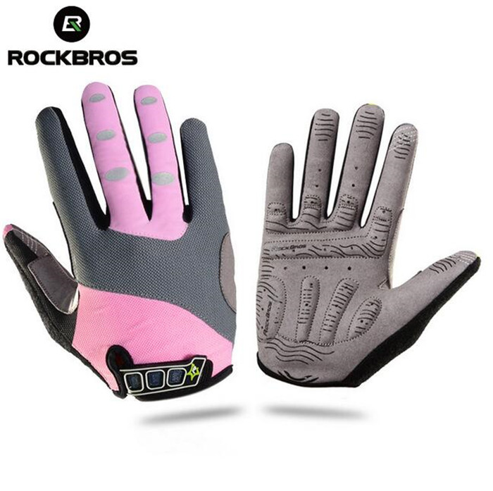Rockbros Winter Thermal Full Finger Cycling font b Gloves b font Touch Screen Long Full Finger