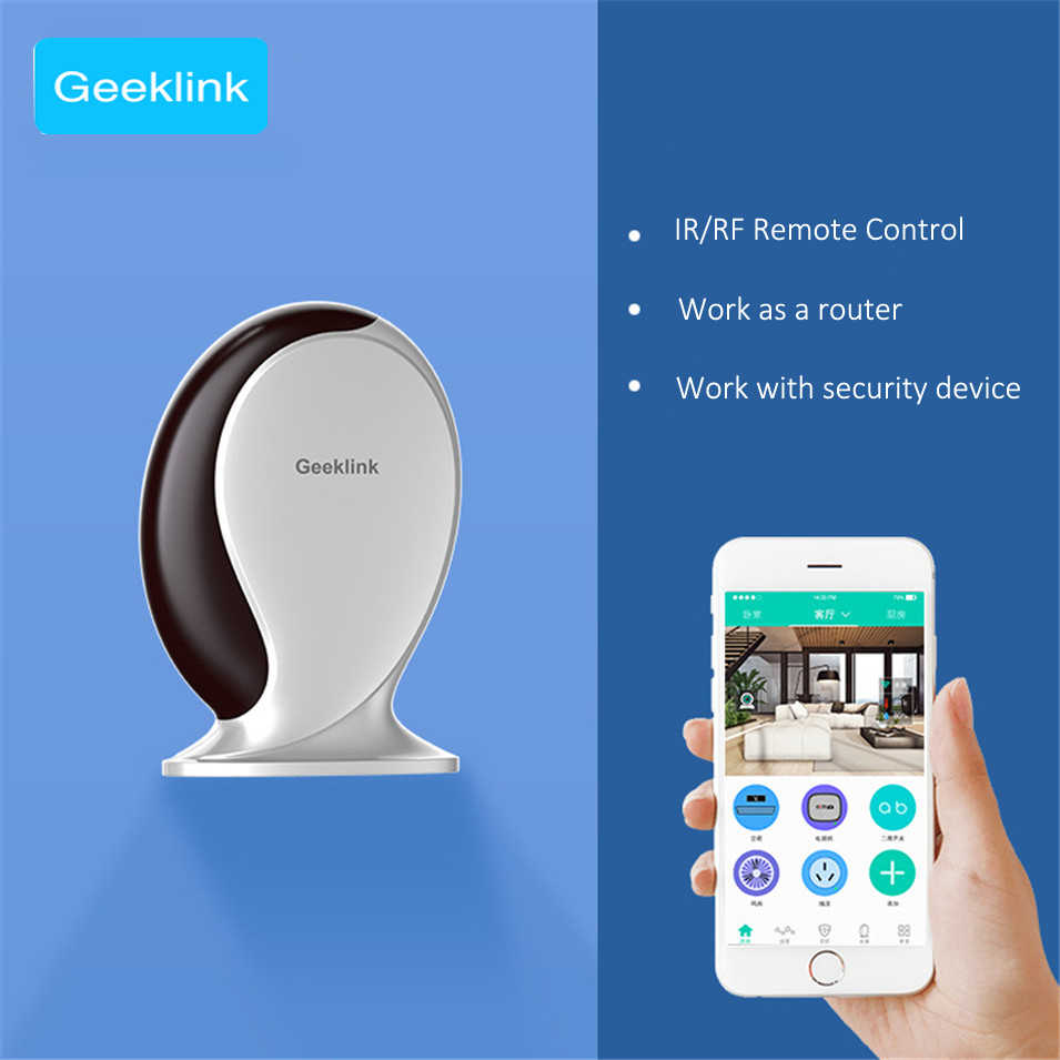 Geeklink Thinker+Extension Universal Smart Home Remote Controller  WiFi/IR/RF Router for IOS Android APP Smart Home Automation