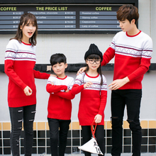 Fashion Cotton Sweaters Family Matching O-Neck Mother Daughter Father Son Clothes Family Style Set Parent-Child Clothing AL18