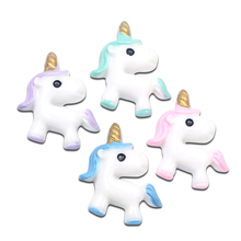 Embellishments Diy-Accessories Kawaii Unicorn-Decoration Crafts Scrapbooking Flatback Cabochon