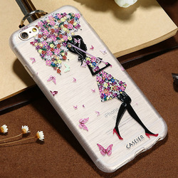 CASIER Girl Flower Case For iPhone 7 6 6s Case iPhone 5s se Cases For Samsung Galaxy S7 S6 Edge Embossed Soft TPU Cover Shell 1