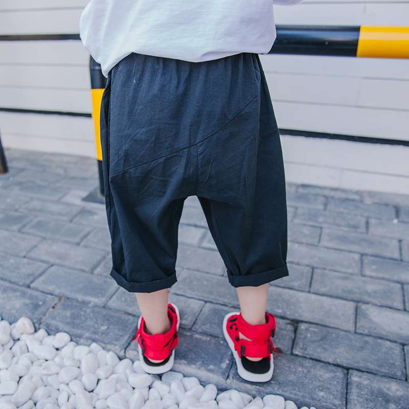 2018 nowy letni chłopak pięć spodnie na co dzień cienkie spodnie - Ubrania dziecięce - Zdjęcie 2