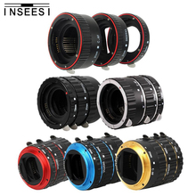 INSEESI Mount Metal AF Auto Focus Macro Extension Tube Ring Lens Adapter For Canon macro ring EOS EF 1Ds Series 7D 5D 5D MarkII