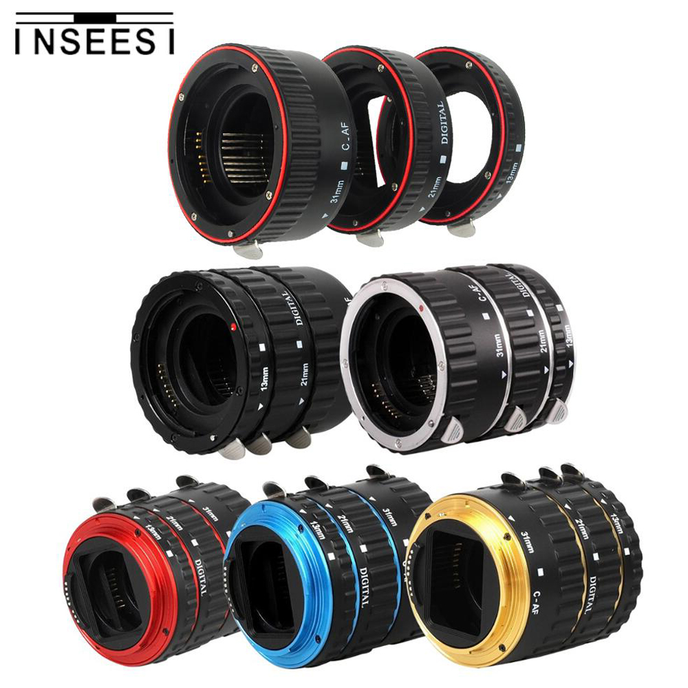 Metal Mount Auto Focus AF Macro Extension Tube Ring Lens Adapter For Canon macro ring EOS EF-S 750D 80D 7D T6s 6D 7D 5D Mark II