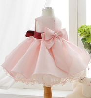 2016 Pink Tutu Vestidos Infantis Baby Girls First Communion Pageant Wedding Party Dresses For 1 Year