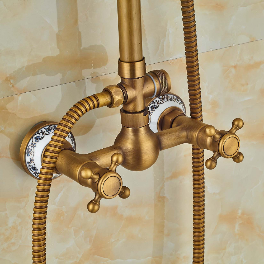 Antique Brass Shower Faucets 8\