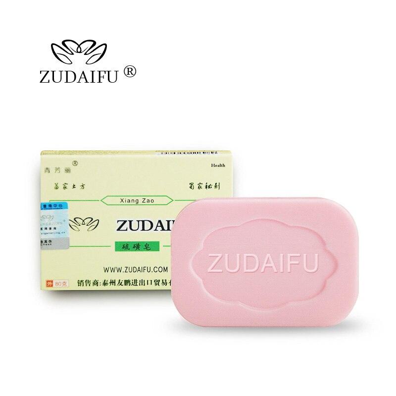 ZUDAIFU Sulfur Soap Skin Condition Acne Psoriasis Seborrhea Eczema Anti Fungus Bath Cream Dermatitis Antibacterial Bath Bomb 85g