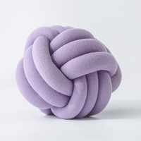 Trendy Handmade Cartoon Round Knot Ball Pillow Jersey Knit Decorative Ball Floor Cushion Nursery Plush Throw Pillow
