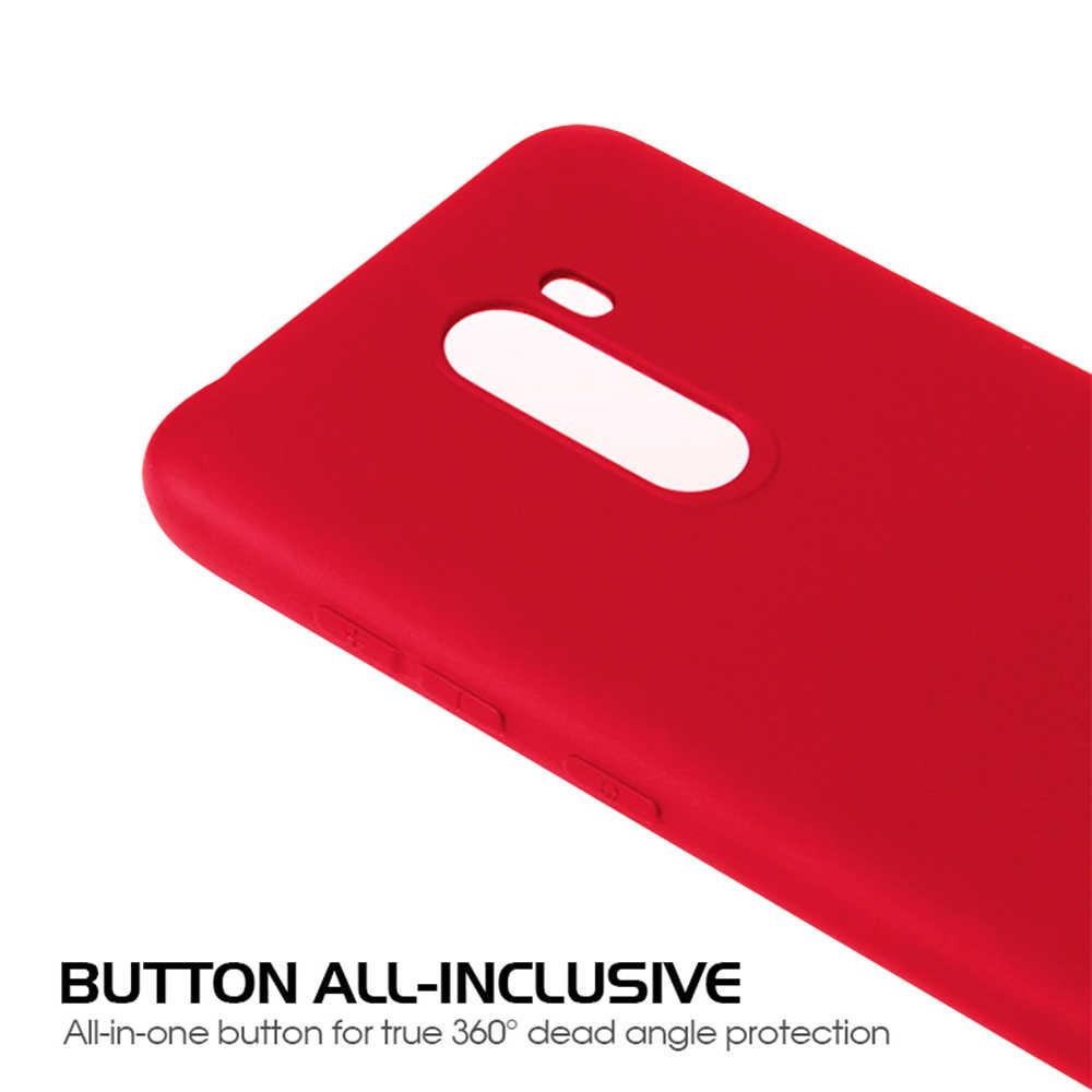 Coque couleur Pure pour Xiao mi Pocophone F1 Play mi 8 Lite SE 6 mi A2 A1 6X 5X Max 3 mi x 3 rouge mi 6A 5 Plus Note 5 6 Pro 4X étui en polyuréthane thermoplastique