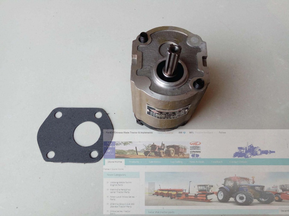 314L gear pump, the left rotation, splined shaft (long shaft), with no flange and no oil end out gear pump cbn e316l left rotation with flange no end oil outlet splined long shaft of dongfeng tractor