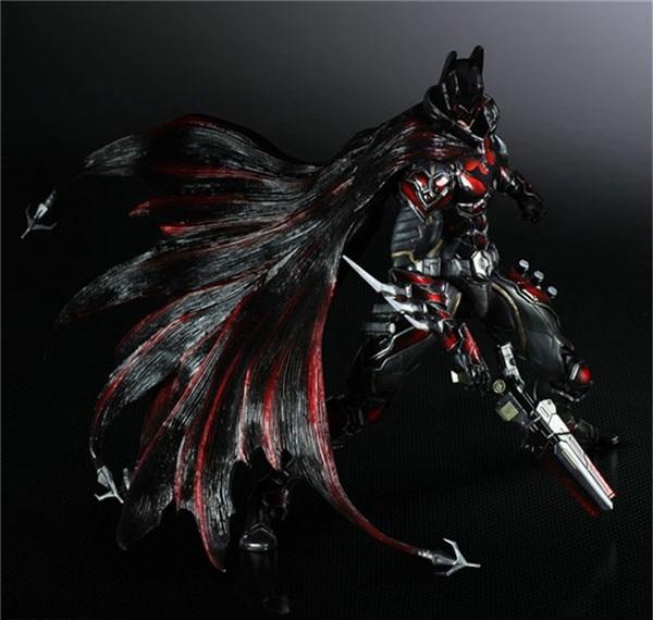 Play Arts Kai Bat Man NO 1 Bat-man Figure Red Edition Bruce Wayne 25cm Variant Play Art KAI PVC Action Figure Doll Toys Kid Gift