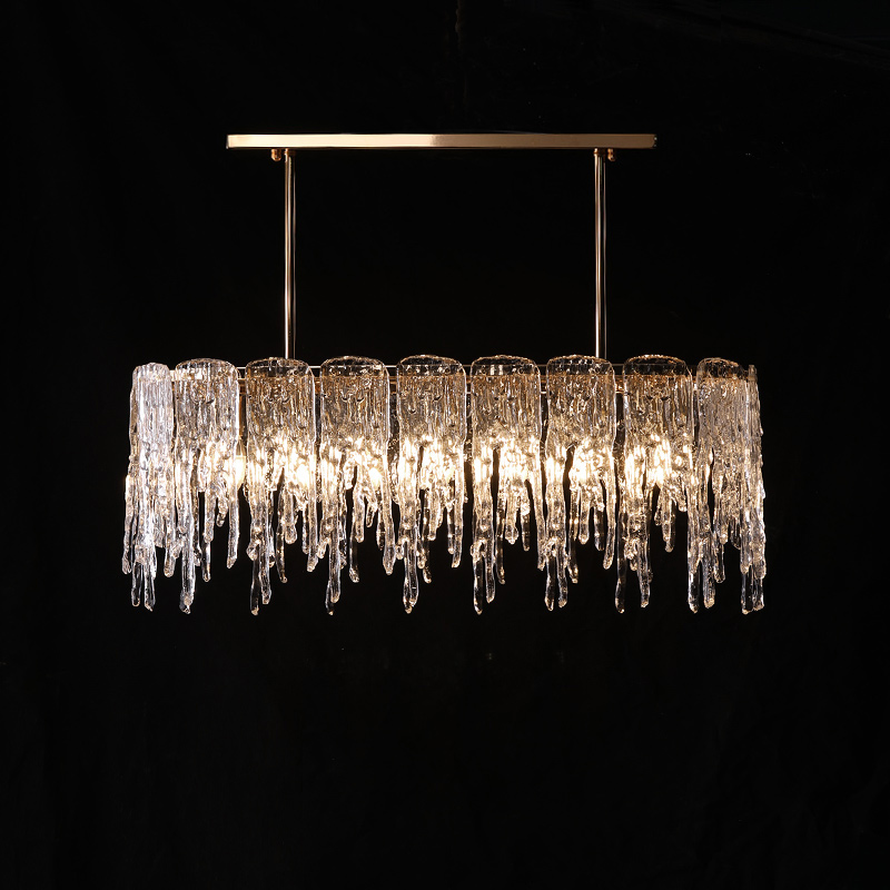 Hallway Ice Hanging  Lamp Art Decor Waterfall Pendant Light For Dining Room Home  Lights & Lighting E14 Led Suspension Luminaire