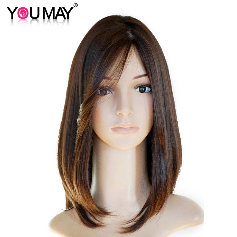 Jewish Wig Silk Base Lace Front Human Hair Wigs Pre Plucked European Hair With Baby Hair Pre Colored You May Remy