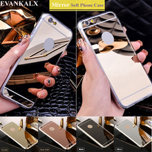 EVANKALX Mirror Shiny Case For iPhone 5s se 5 Soft TPU edge Phone Cases For iPhone 6 6s 7 8 Back Cover For iPhone 6 6S 7 8 Plus