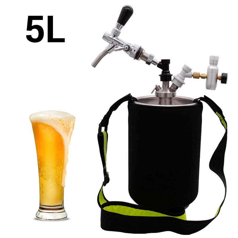 5L Mini Barril De Cerveja Growler para a Cerveja Artesanal Bola Bloqueio do Sistema Dispensador De CO2 EUA Chope Torneira com Prémio Pour regulador