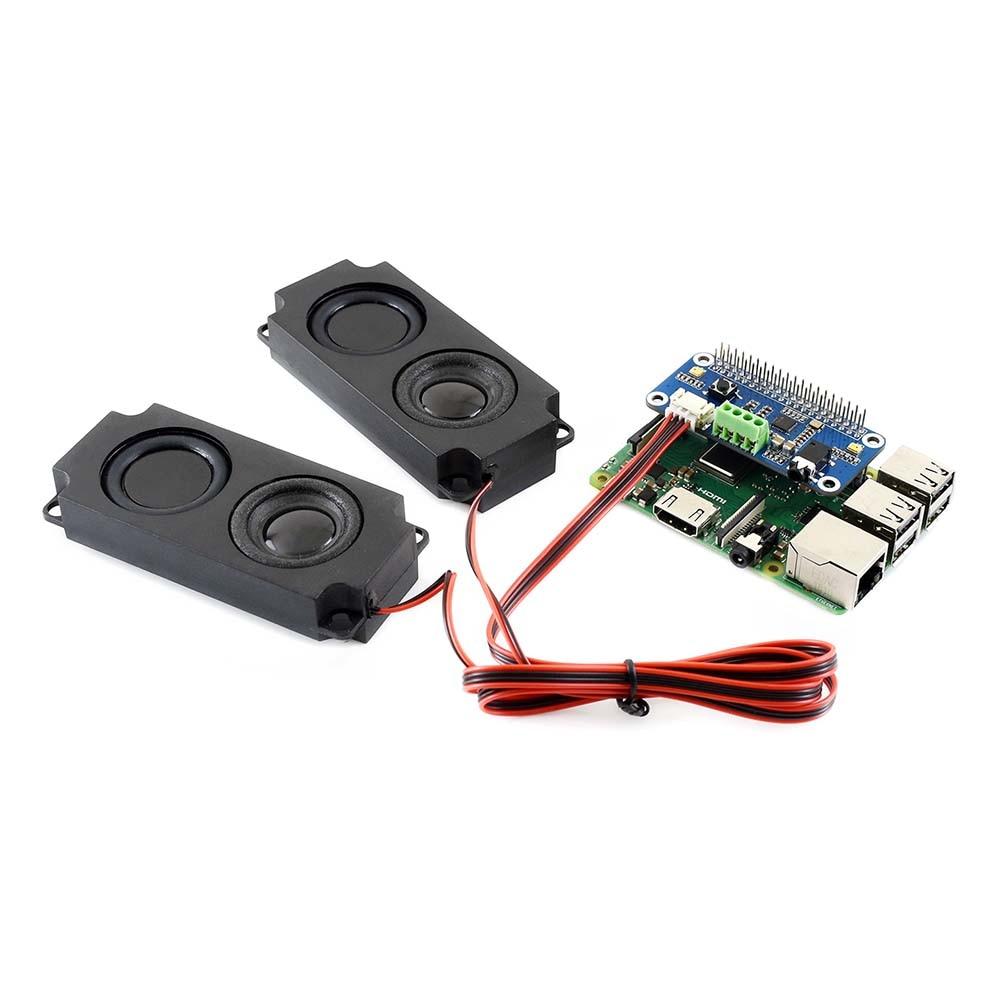Waveshare WM8960 Hi-Fi Sound Card HAT For Raspberry Pi Zero/Zero W/Zero WH/2B/3B/3B+, Stereo CODEC, Play/Record