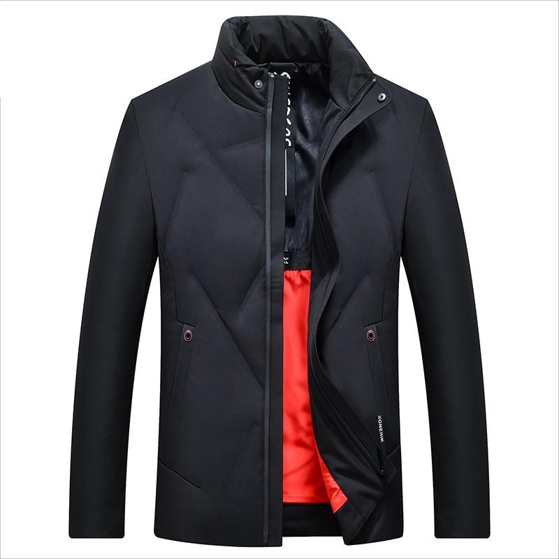 Men's Duck   Down   Jacket Slim Warm   Down     Coat   for Men Male