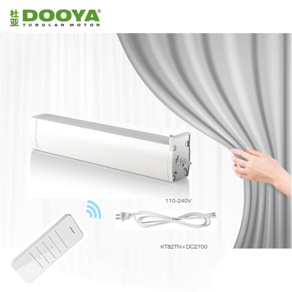 Original Dooya KT82TN Electric Curtain DC Motor DC2700 Remote Controller Automatic Electric Curtain Motor 110 240V