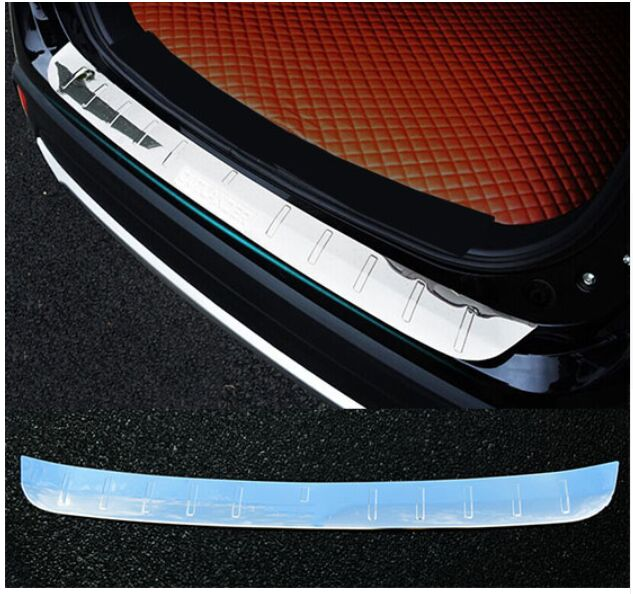 ACCESSORIES FIT FOR Mitsubishi OUTLANDER 2016 REAR BUMPER PROTECTOR STEP PANEL BOOT COVER SILL PLATE TRUNK TRIM|sill plate|sill protectors|accessories mitsubishi outlander 2016 - title=