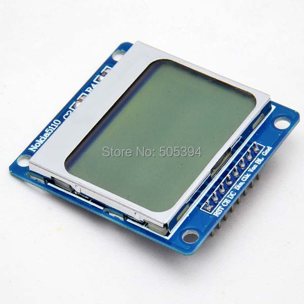 84x48 Pixel LCD Module white Backlight Adapter PCB For Nokia 5110 For Arduino