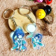 2pcs/set Anime Keychain Onmyoji Hotaru Grass Unawakening Doubleside Printing Keychain Keyrings Pendant De Llaveros