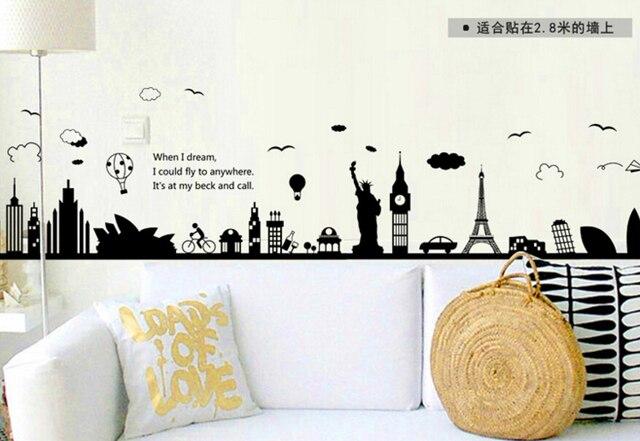 Monuments landscape (Eiffel Tower, Liberty Statue, Big Ben, Sidney Opera…)
