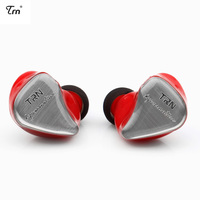 Original TRN IM1 Metal Earphone Wired Headphones 1BA+1DD Hybrid HiFi DJ Monitor Sports Detachable Cable Headset With Microphone