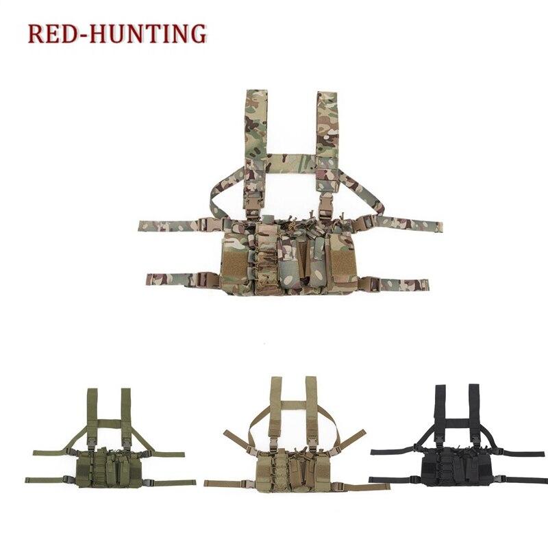 屋外タクティカルベスト戦闘胸リグ軍事キャリア w/多くの種類の Mag ポーチ送料無料  グループ上の スポーツ & エンターテイメント からの 狩猟ベスト の中 1