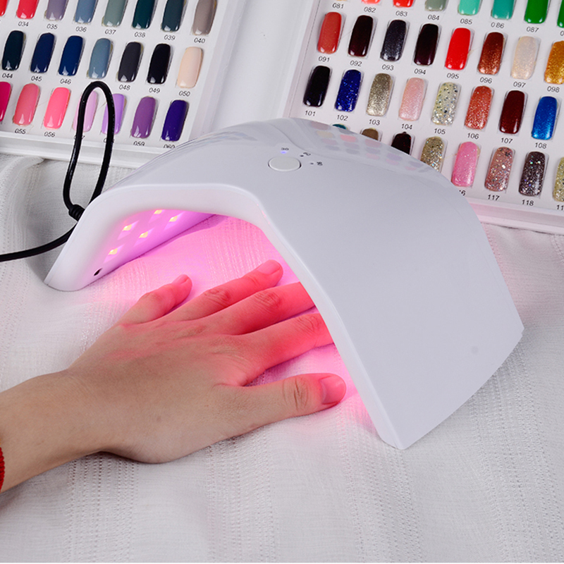 Lamps For Nails UV Nail Dryer Lamp UVLED 48W Manicure UV Lamp For Manicure Gel Varnish Drying For Nail Gel Polish Curing m theory nails wraps stickers eastern plum flower 3d nails arts polish sticker gel varnish decals manicure decorations
