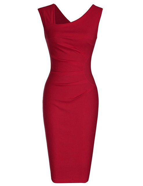 Woman Sleeveless Pencil dress Retro Floral Printed Bodycon Slim dress S-XL3Color