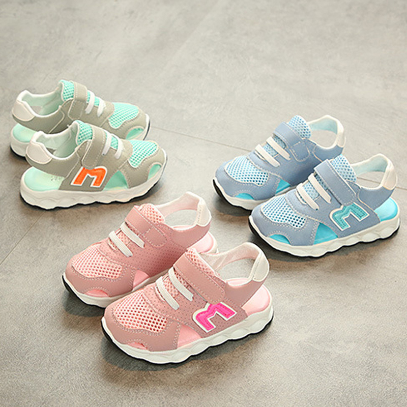 New European fashion 2018 children sandals Hook&Loop Ankle Wrap boys girls shoes elegant high quality kids baby sneakers