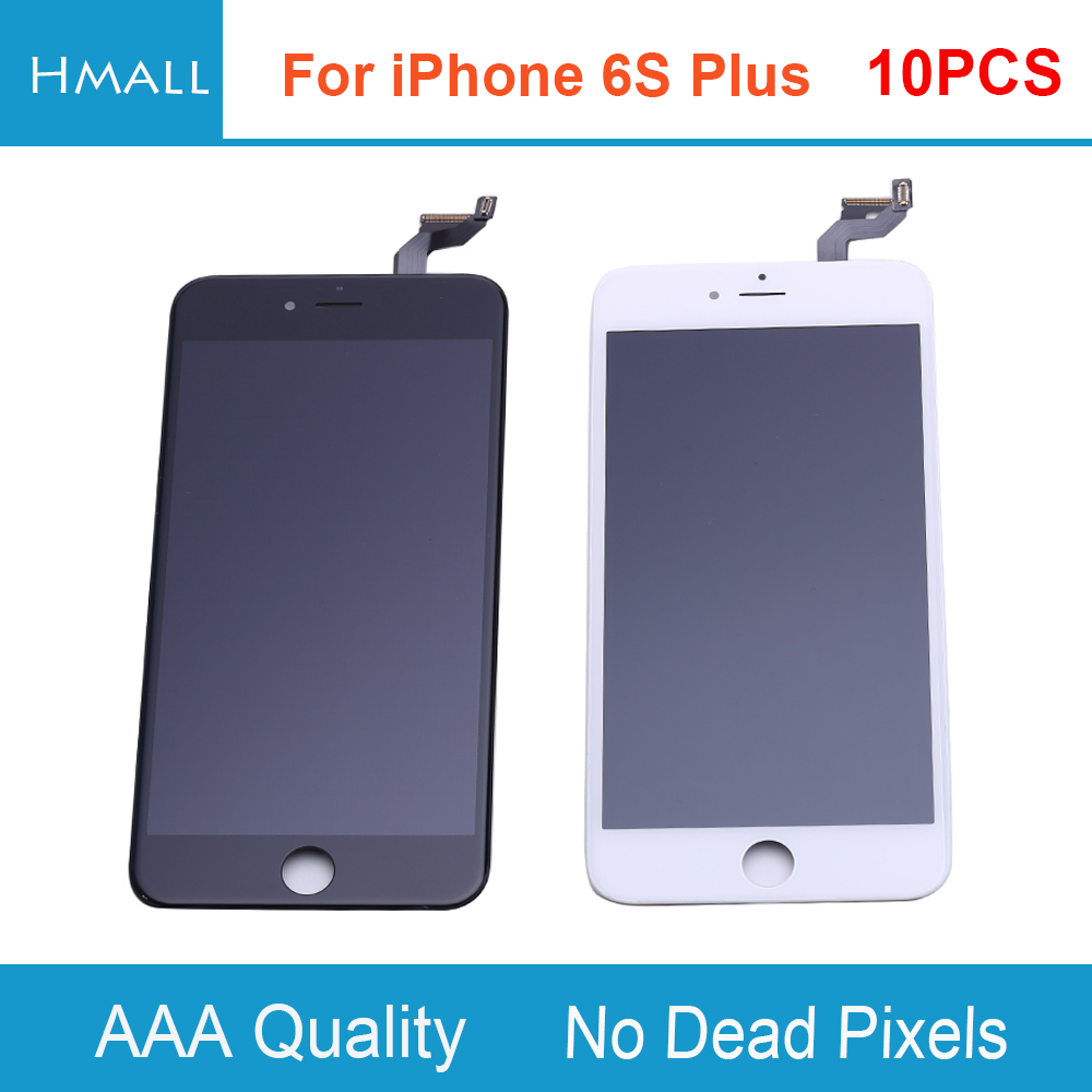 10 PCS For iPhone 6S Plus LCD Display with Touch Screen Digitizer Assembly Replacement White/Black Grade AAA No Dead Pixels DHL 10pcs lot grade aaa pantalla black white for iphone 5c lcd display with touch screen digitizer assembly in stock free shipping