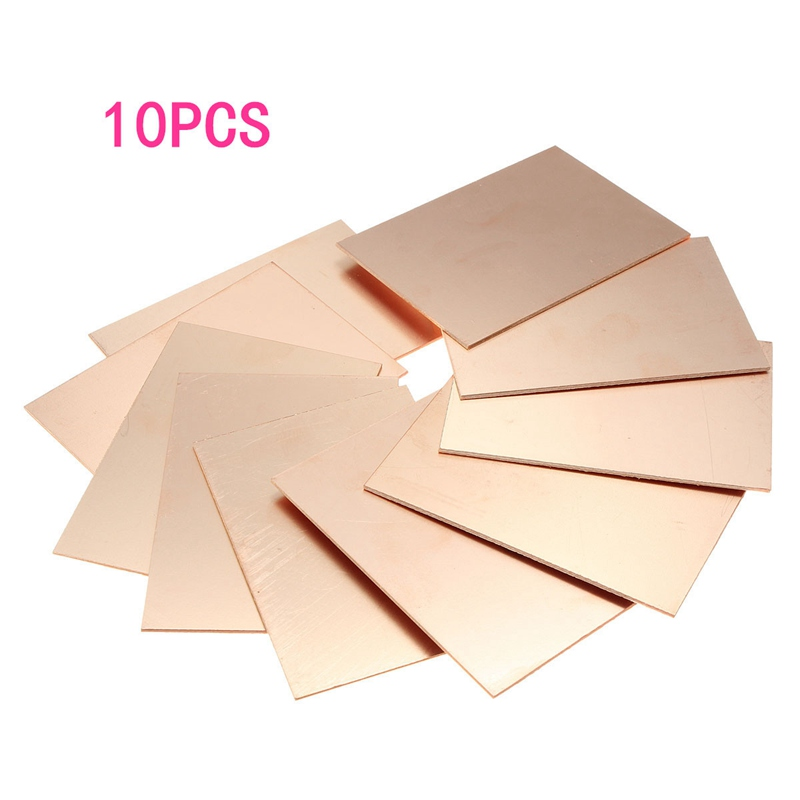 Pcb & Pcba Single-sided Pcb Supply Hot New Arrival 10pcs/lot Fr4 Pcb Single Side Copper Clad Diy Pcb Kit Laminate Circuit Board 70x100x1.5mm Fr4 Pcb Board