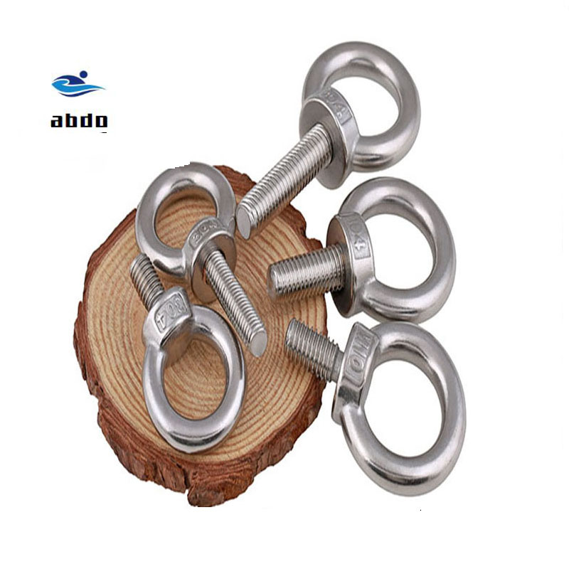 10Pcs M3 M4 M5 M6 M8 M10 DIN580 304 Stainless Steel Marine Lifting Eye Screws Ring Loop Hole for Cable Rope Eye bolt HW01110Pcs M3 M4 M5 M6 M8 M10 DIN580 304 Stainless Steel Marine Lifting Eye Screws Ring Loop Hole for Cable Rope Eye bolt HW011
