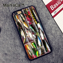MaiYaCa Fishing Tackle Box Printed Phone Case Skin Shell For iPhone 6 6S Plus 7 7 Plus 5 5S 5C SE Rubber Soft Cell Housing Cover