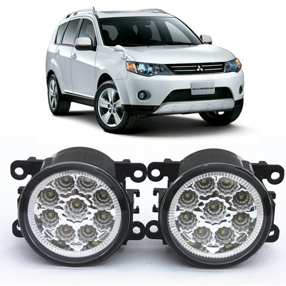 For MITSUBISHI OUTLANDER II CW_W Closed Off-Road Vehicle  2006-2012 Car-Styling Led Light-Emitting Diodes DRL Fog lamps 1set seintex 00560 для mitsubishi outlander ii 2006 2012