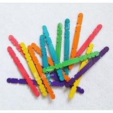 114x10x2 мм Стоматологическая Форма деревянные палочки для мороженого/леденцов деревянные для мороженого палочки для детских поделок Сделай Сам модельные инструменты-красочные 500 шт/уп