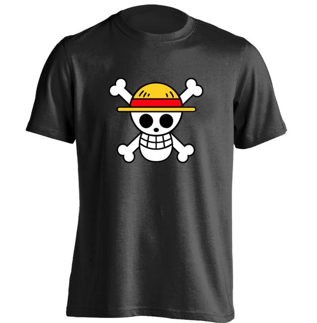 5352b27dc One Piece Luffy flag logo Mens & Womens Cool T Shirt Printing T Shirt  Custom T