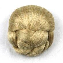 Soowee 6 Цвета Высокая Температура Волокна Волос Плетеный Chignon Клип В Волос Пучок Женщины Donut Ролика Шиньоны