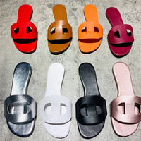 Woman Brand Designer 2019 Spring Summer Hoop H Sandals Pig Nose New Luxury Women's Sandals Women's shoes size 35 40