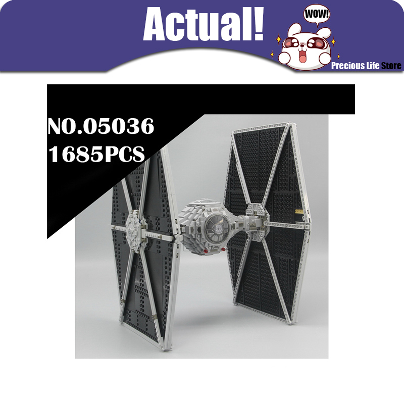 LEPIN 05036 TIE Fighter Star Clone Wars Building Blocks Bricks Enlighten DIY Toys For Kids Model Compatible with legoINGly 75095 678pcs diy star wars resistance troop transporter model building blocks compatible with starwars legoingly bricks toys kids gift